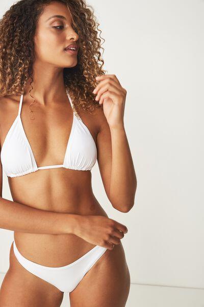 Classic Slider Triangle Bikini Top, WHITE