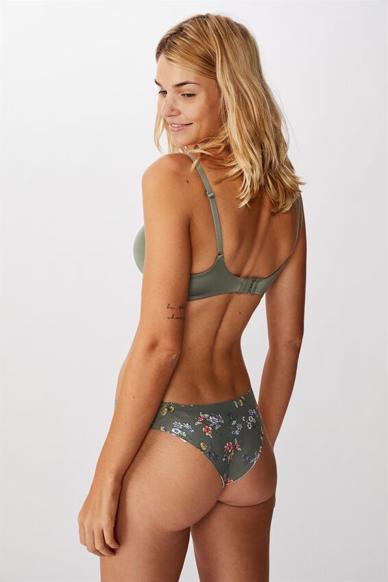 Party Pants Seamless Brasiliano Brief, BOTANICAL COOL AVOCADO