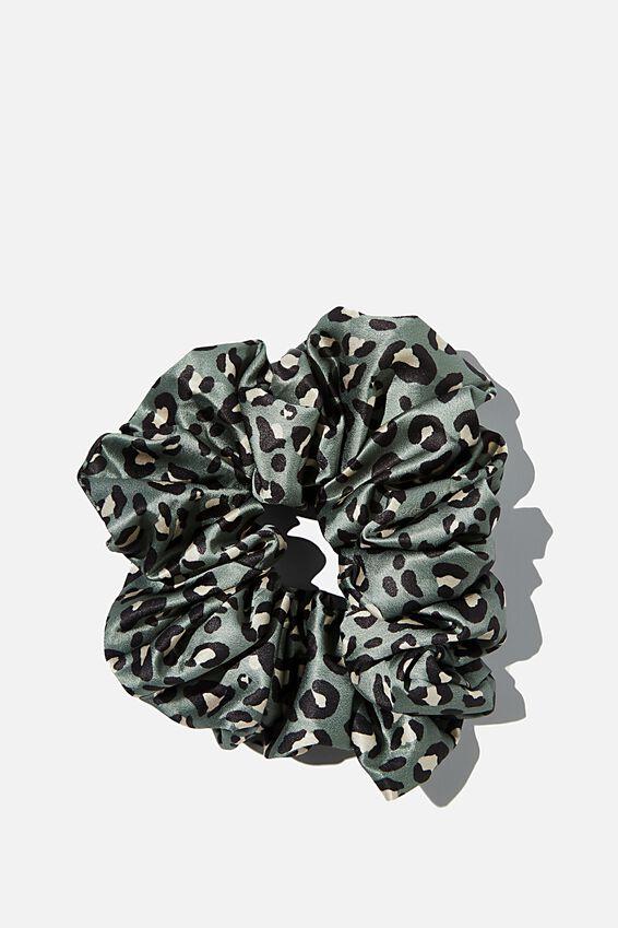 Super Luxe Scrunchie, KHAKI LEOPARD