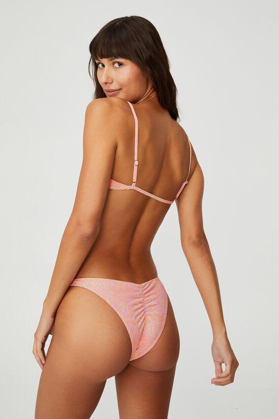 Gathered Bralette Bikini Top, ZEBRA OVERLAY