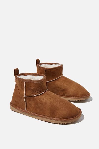 Super Cropped Home Boot, CASHEW