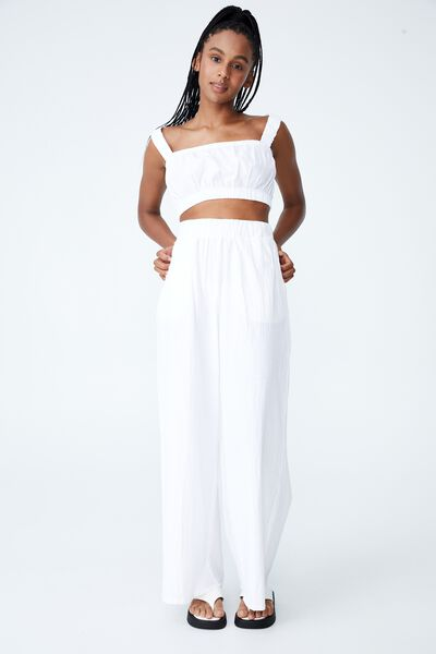 Relaxed Beach Pant, WHITE