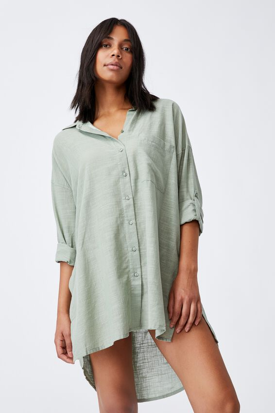 I-Do Shirt Nightie, DESERT SAGE