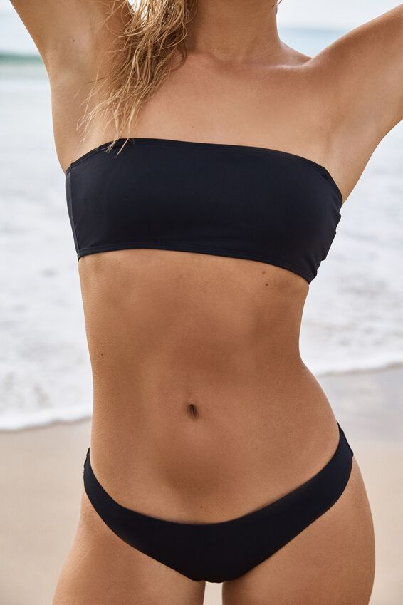 Summer Bandeau Bikini Top, BLACK