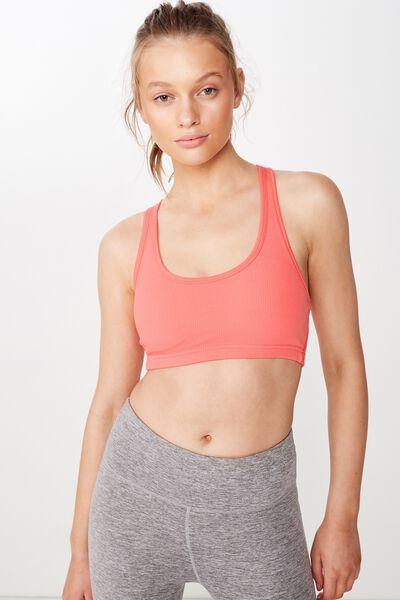 Workout Cardio Crop, CORAL SUGAR TEXTURE
