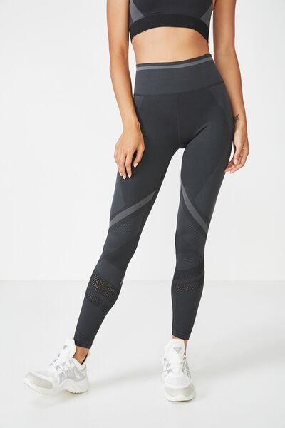Banded Seamfree Tight, BLACK MARLE