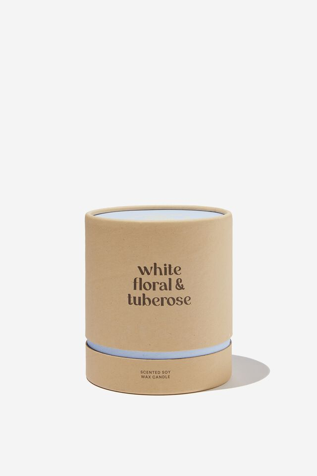 Down Time Candle, WHITE FLORAL & TUBEROSE