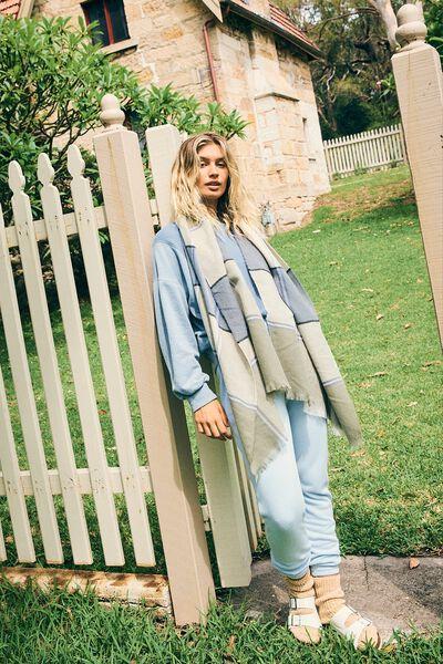 Gym Track Pants, SKYE BLUE MARLE