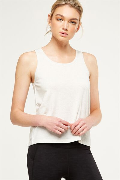 Gym Tank Top, OATMEAL MARLE