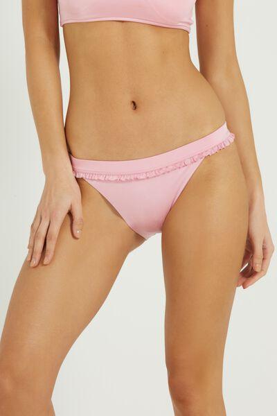 Mini Frill Cheeky Bikini Bottom, MISTY PINK