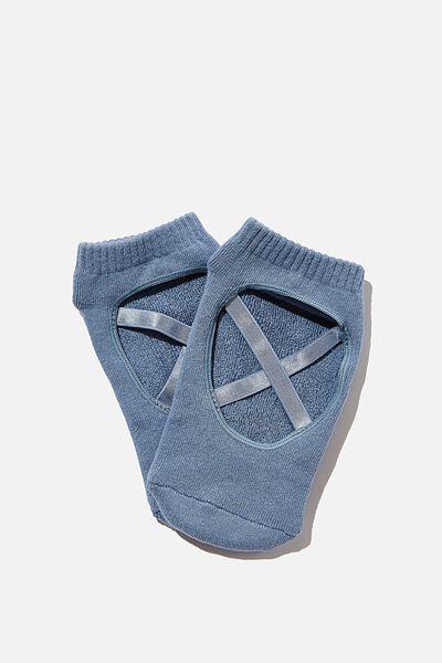 Pia Pilates Sock, COPEN BLUE