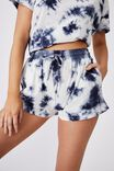 Jersey Sleep Short, NAVY TIE DYE