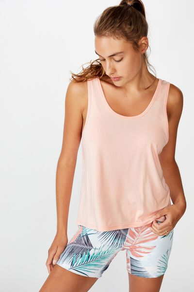 Twist Back Tank, SOFT CAMEO PINK