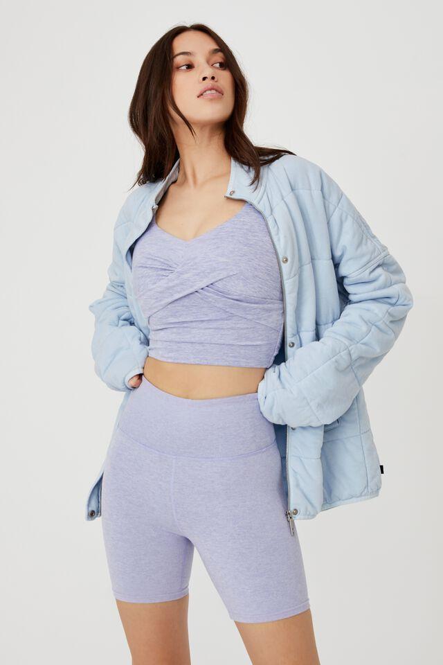 Quilted Zip Through Jacket, BALLAD BLUE