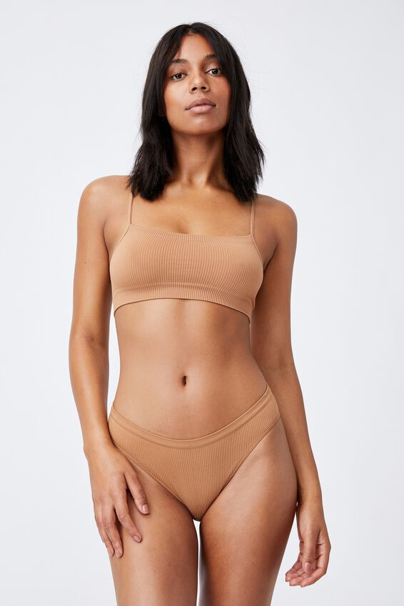 Seamless Bikini Brief, CASHEW
