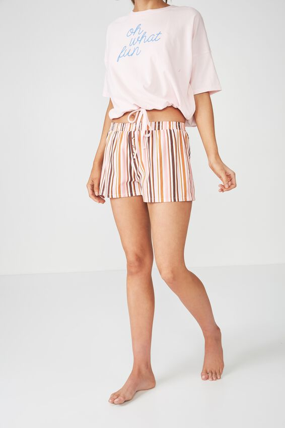 Bedtime Fun Shortie, CANDY STRIPE