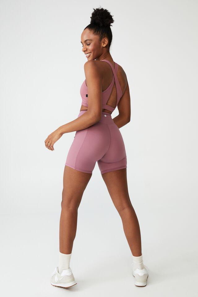 Highwaisted Yoga Bike Short, SUMMER ROSE