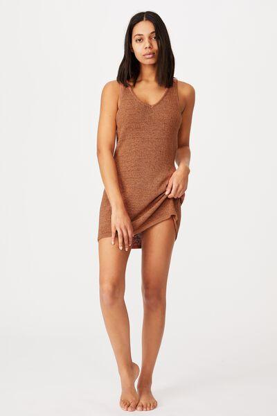 Summer Lounge Slip Dress, TERRACOTTA