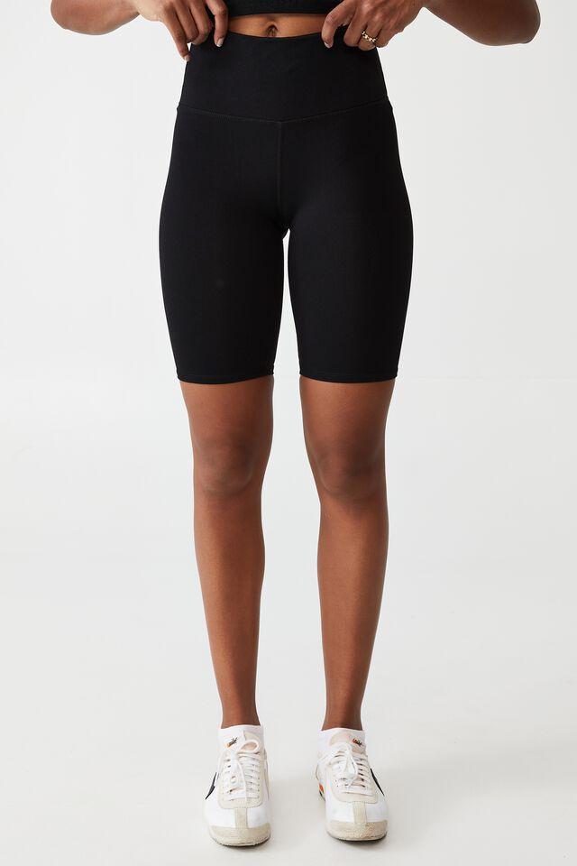Highwaisted Mid Length Bike Short, CORE BLACK