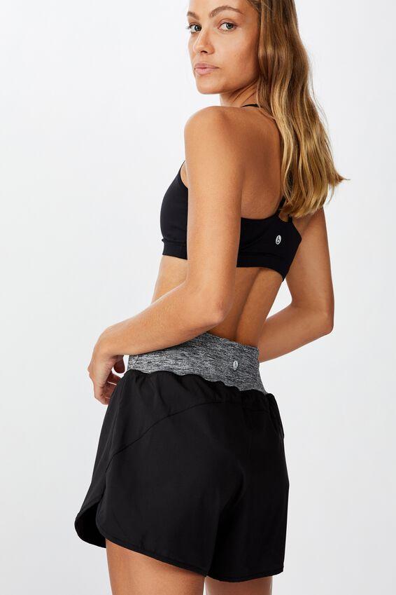 Active Run Short, BLACK/SALT & PEPPER