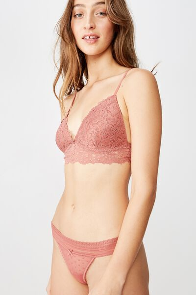 Stephanie Mesh G-String Brief, TERRACOTTA