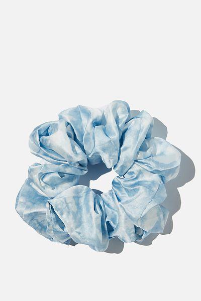 Super Luxe Scrunchie, BLUE TIE DYE