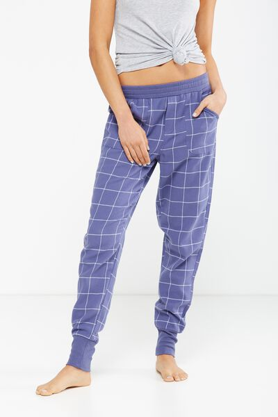 Cuffed Flannel Pant, REVERSE WHITE CHECK