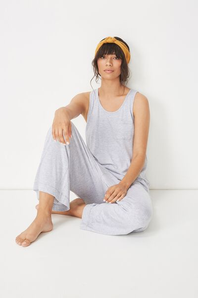 Sleep Recovery Pocket Tank, GREY MARLE