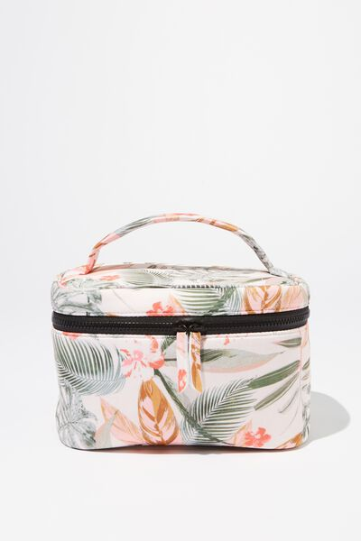 Large Structured Cosmetic Case, TROPICAL FLORAL