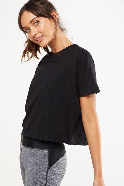 Boxy Tshirt, BLACK