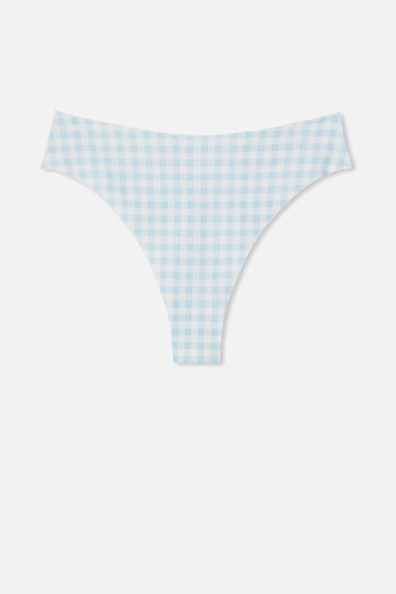 The Invisible High Cut Brasiliano Brief, CLEAR SKY CLASSIC GINGHAM