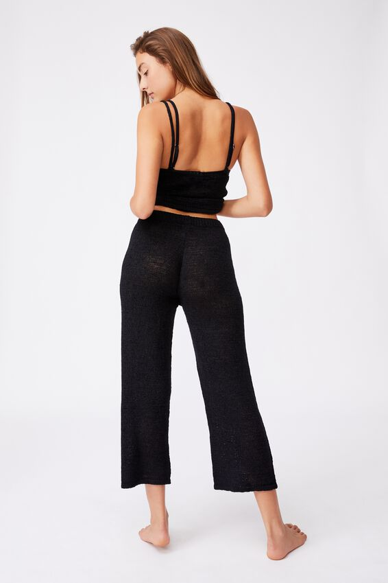 Summer Lounge Pant, BLACK