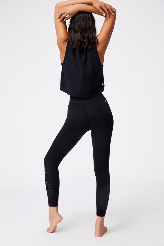 Lifestyle Seamless 7/8 Yoga Tight, BLACK