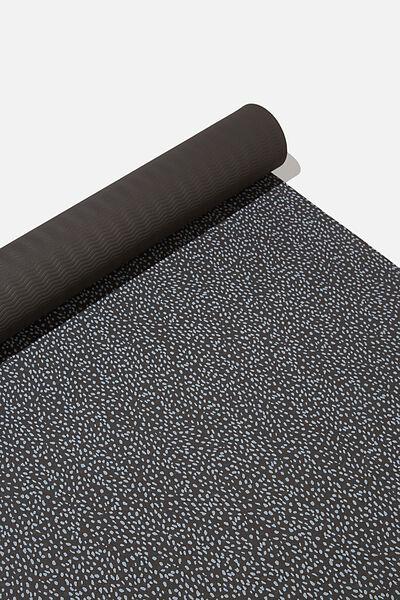 Printed Yoga Mat, BLACK SPECKLE
