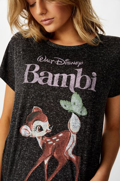 Dreamy Sleep T-Shirt, LCN DIS BLACK/BAMBI
