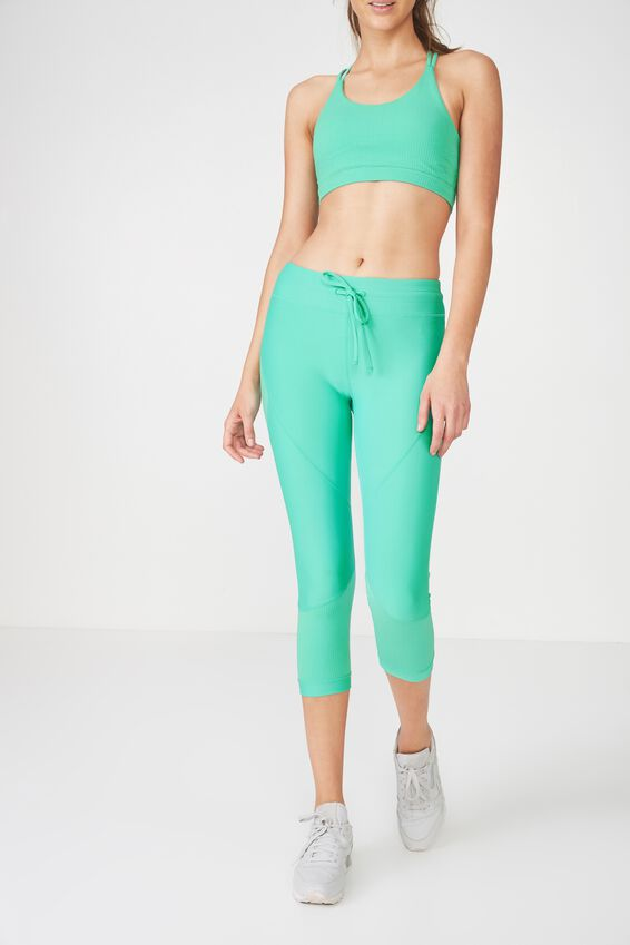 Textured Crop Tight, KELLY GREEN