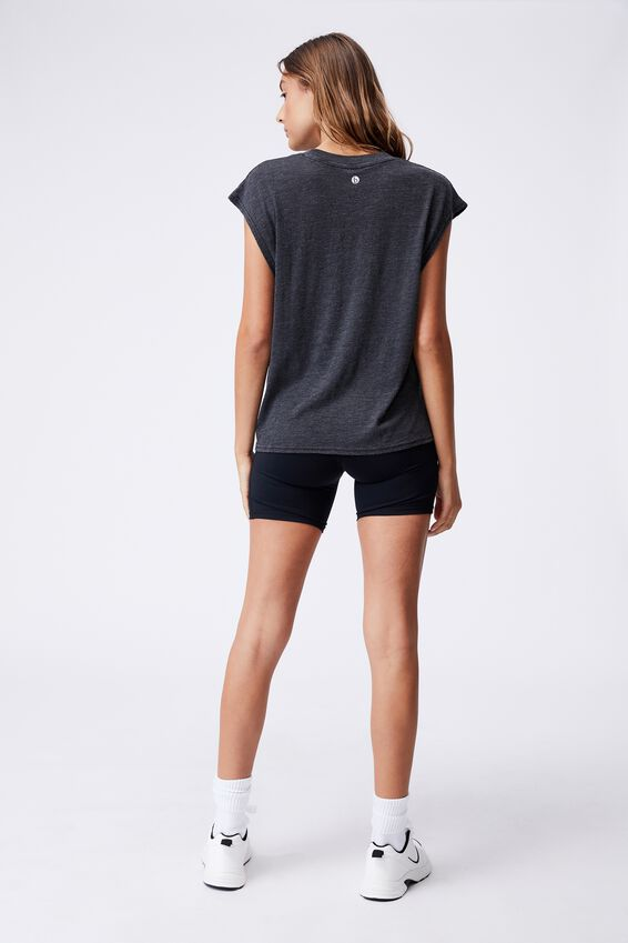 Lifestyle Slouchy Muscle Tank, BLACK WASH
