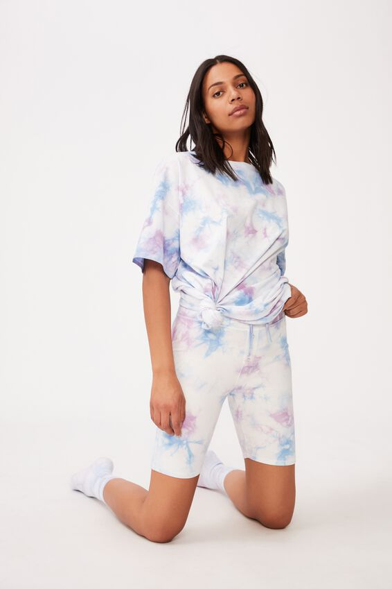 90 S Tshirt Nightie, SOFT LILAC TIE-DYE