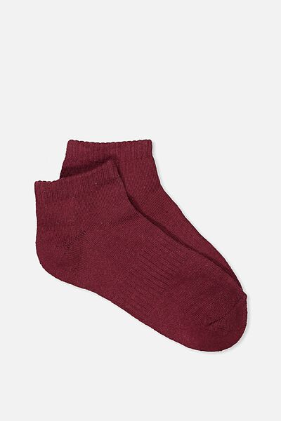 Active Basic Sock, IRON RED