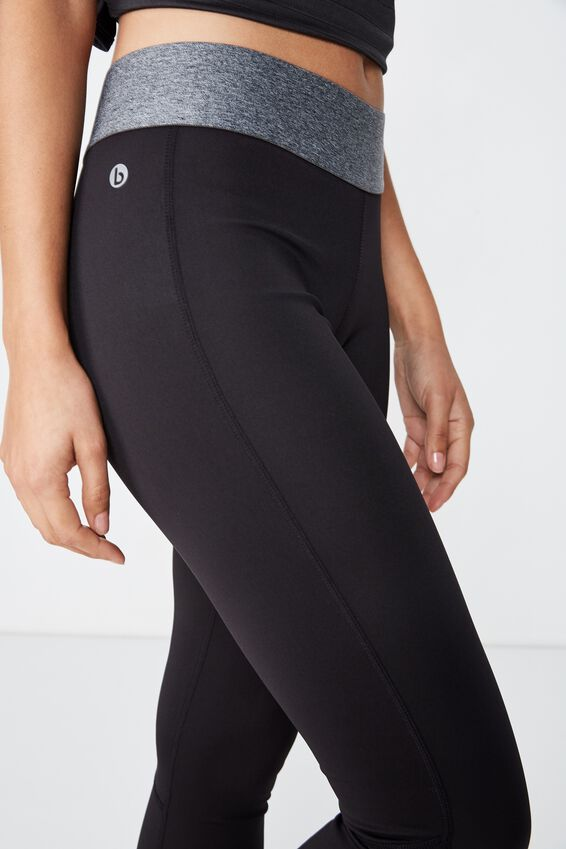 Summer Core 7/8 Tight, BLACK / CONCRETE MARLE