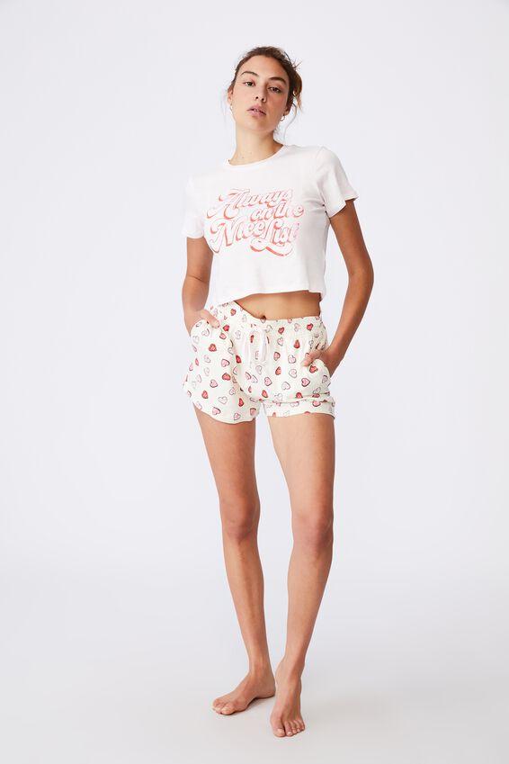 Baby Sleep T-Shirt, NICE LIST/SHELL PINK