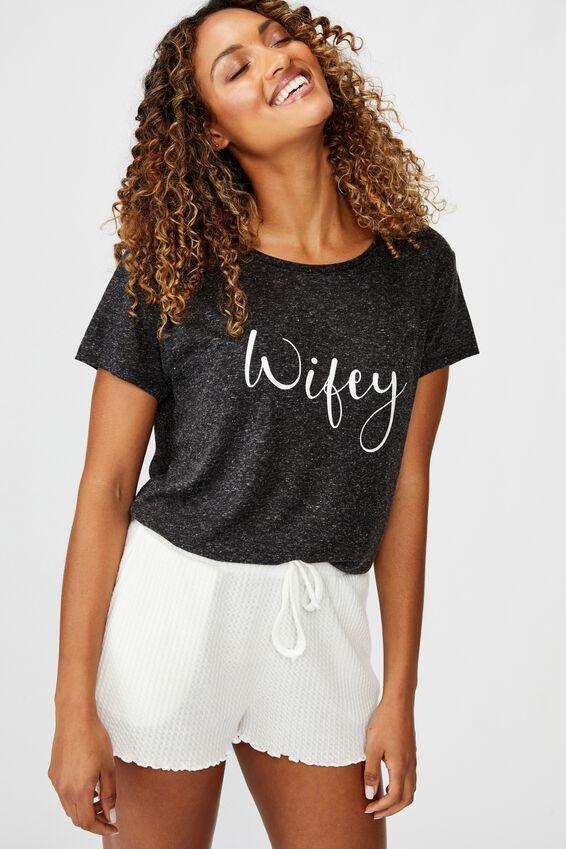 Dreamy Sleep T-Shirt Personalisation, BLACK