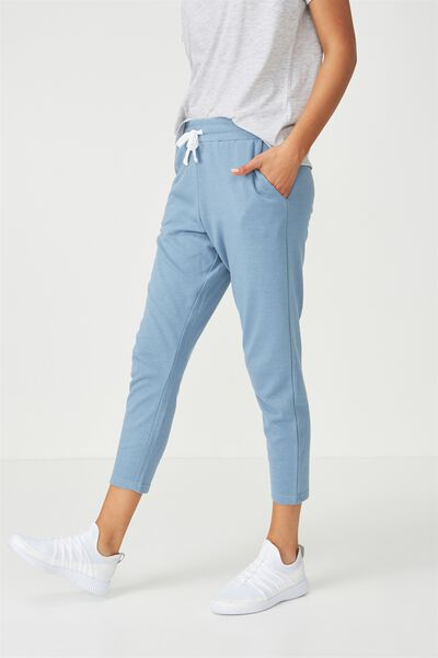 Tapered Leg 7/8 Trackpant, FROSTED BLUE