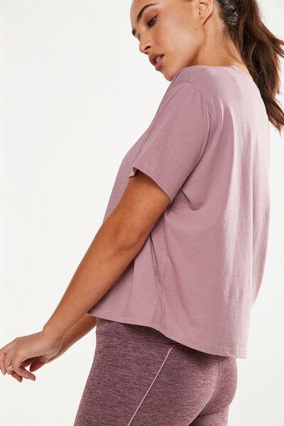 Boxy Tshirt, THISTLE MAUVE