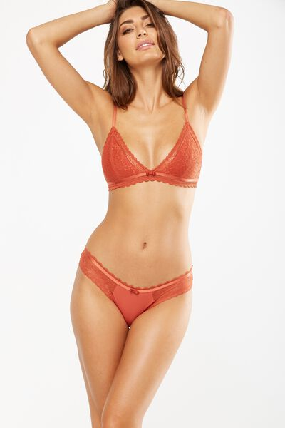 Amber Bikini Brief, BAKED GOLD