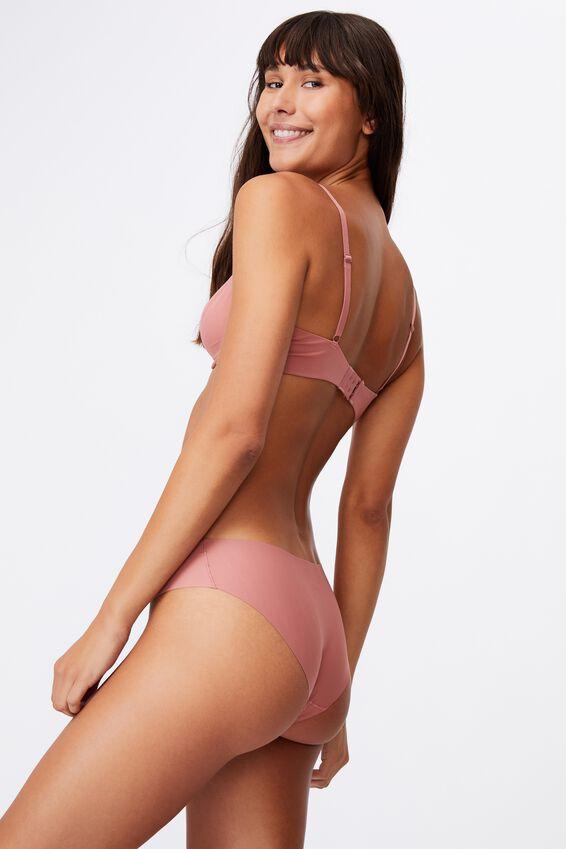 The Invisible Bikini Brief, WOOD ROSE