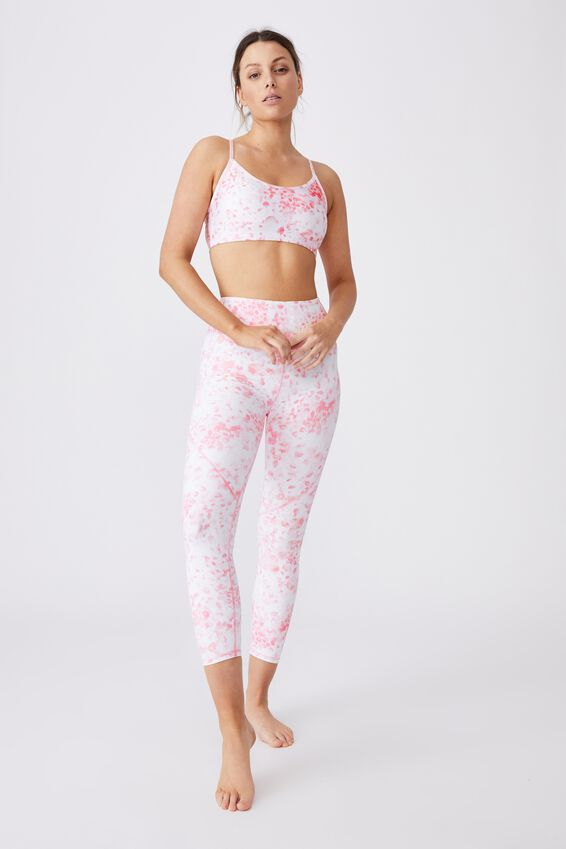 Workout Yoga Crop, INKY REPTILE PINKS