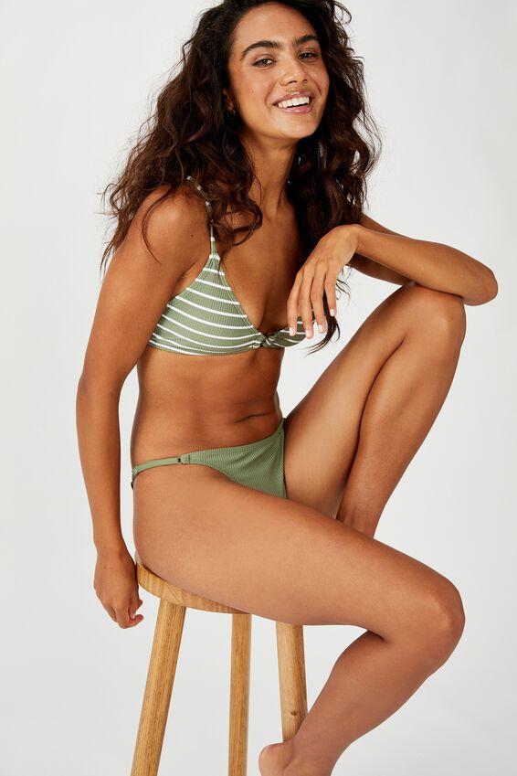 Tanga Brazilian Bikini Bottom, COOL AVOCADO RIB