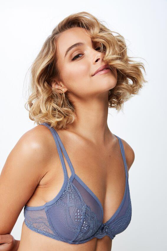 Cindy Underwire Bralette, AIRY BLUE