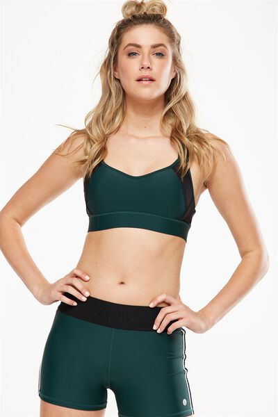 High Impact Sports Bra, HUNTER GREEN/BLACK